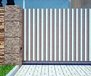 Сплошное заполнение алюминиевым профилем 87 мм